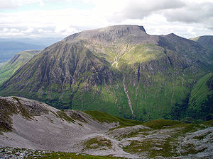 The steep south face of Ben Nevis from Sgurr a...