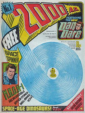 Cover of the first issue of 2000 AD, 26 Februa...