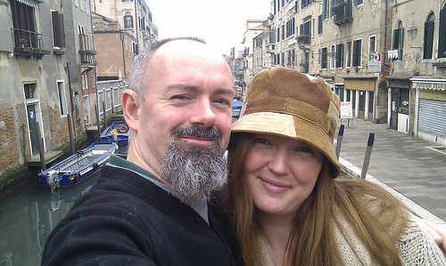 Gillian and me in Venice