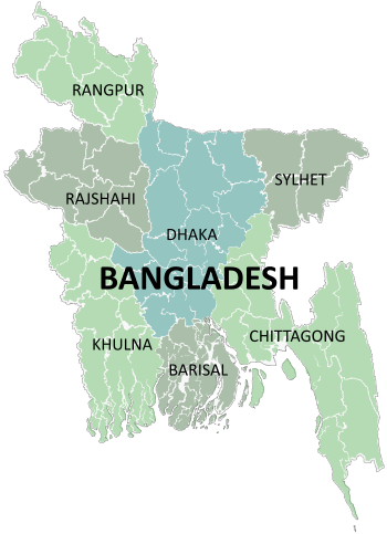 English: Administrative Division of Bangladesh...